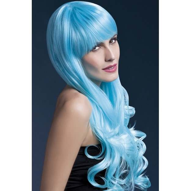 Fever Emily Wig, 28Inch/71Cm Wigs - (Blue)
