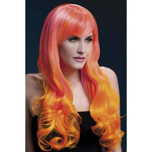 Fever Emily Wig, 28Inch/71Cm Wigs - (Pink, Orange)