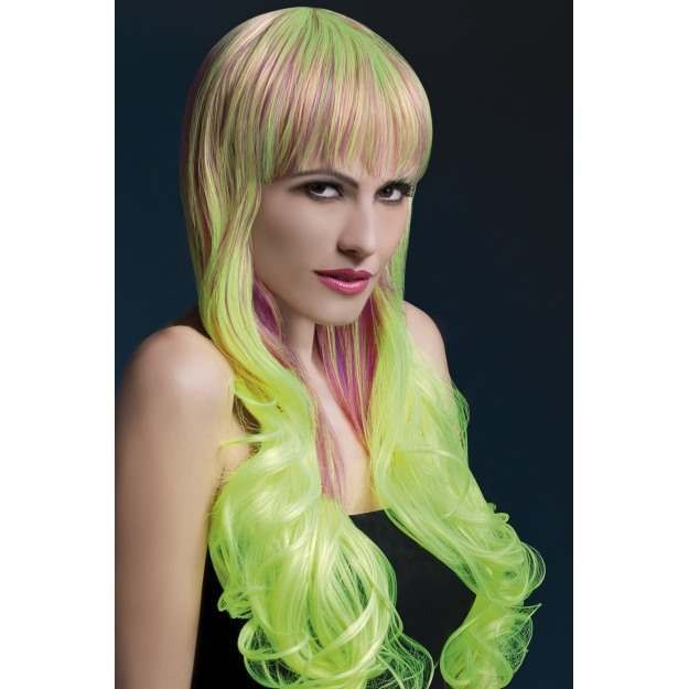 Fever Emily Wig, 28Inch/71Cm Wigs - (Purple, Green)