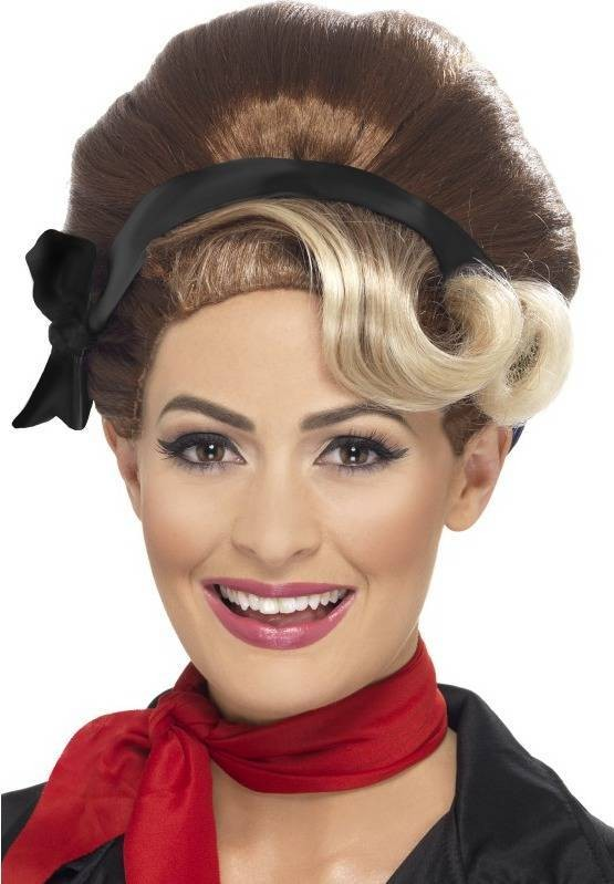 Ladies Beehive Up Do Wigs - (Brown)