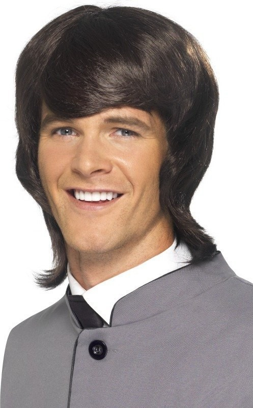 Mens 60S Male Mod Wig Wigs - (Brown)