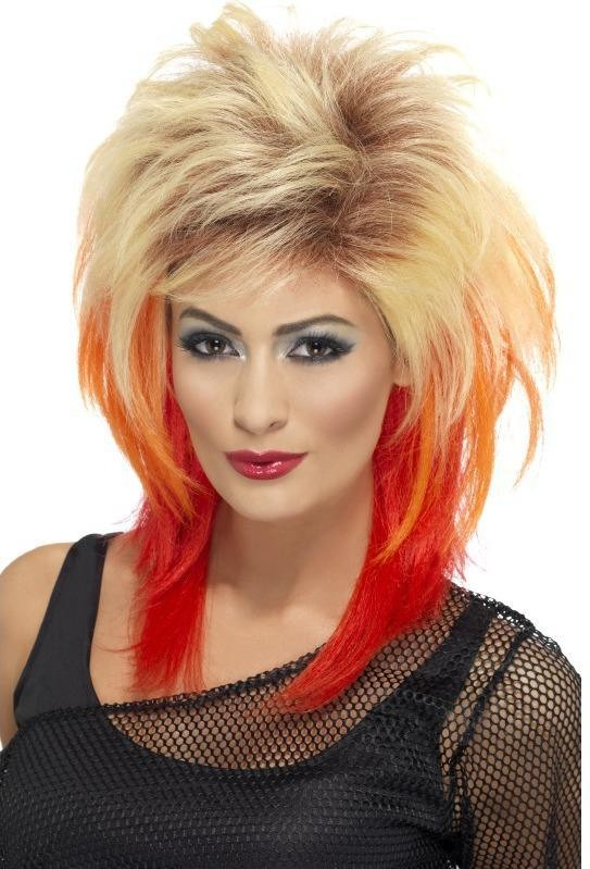 Ladies 80'S Mullet Wig Wigs - (Blonde)
