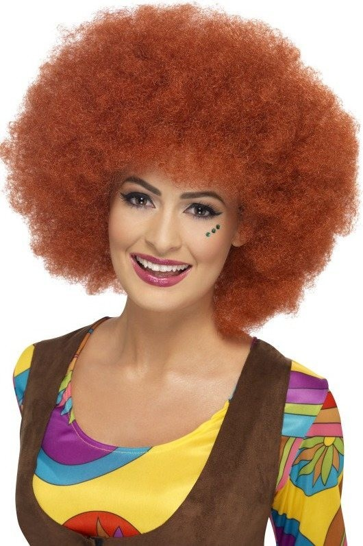 Ladies 60S Afro Wig Wigs - (Red)