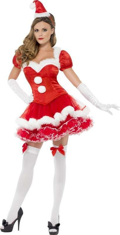 Christmas Outfit.Ladies Fever Santa Costume Christmas Outfit