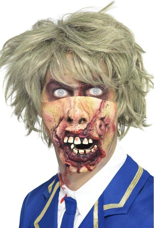 Adult Unisex Rotting Mouth Mask Halloween Masks - (Pink)