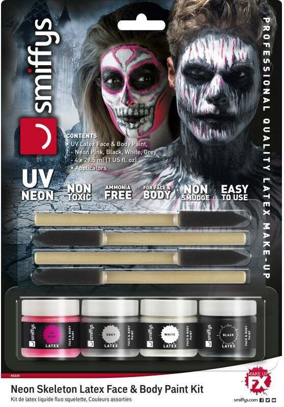(UV Neon) Skeleton Liquid Latex Kit Halloween Accessory