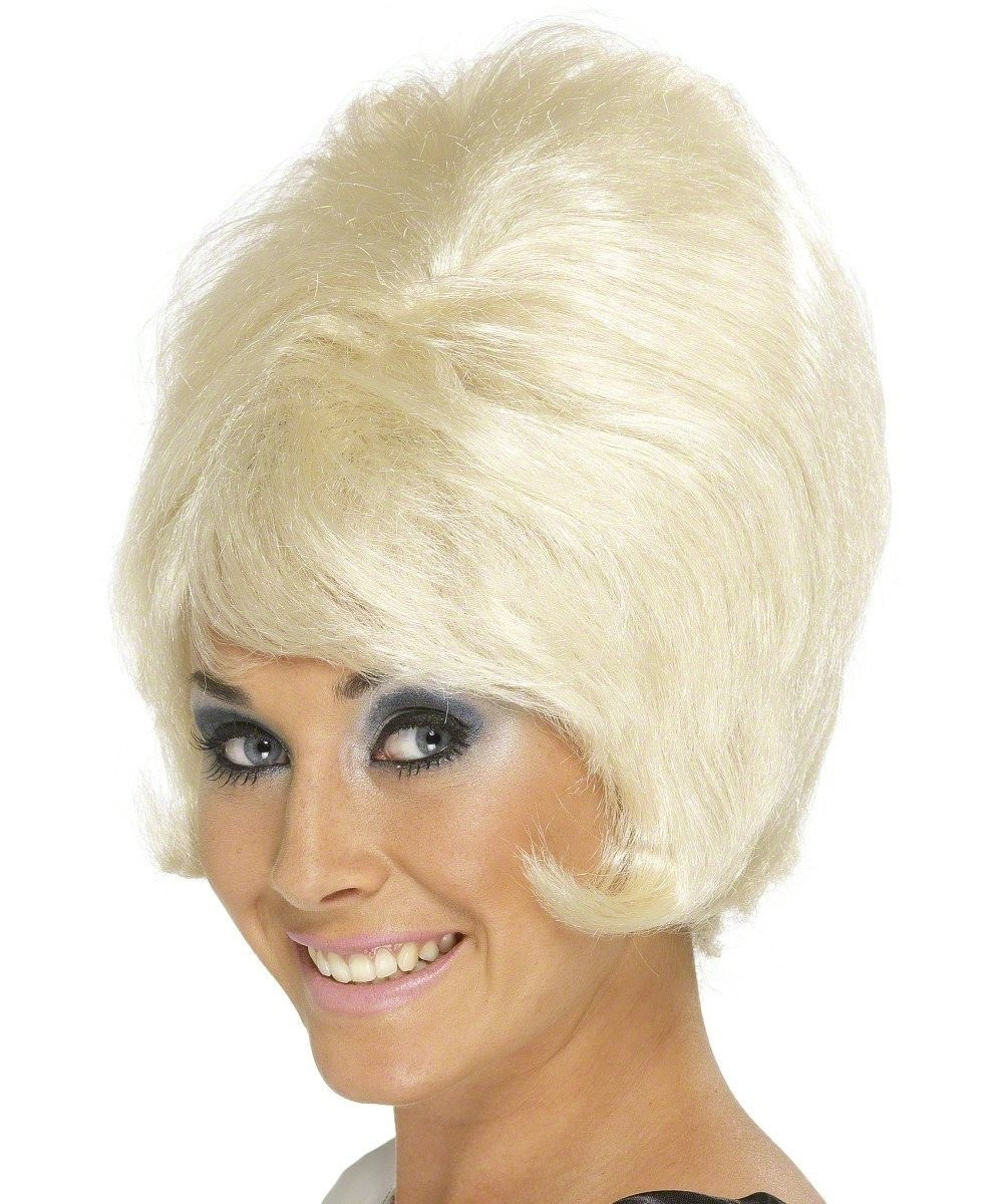 Ladies Sixties Beehive Wig Wigs - (Blonde)