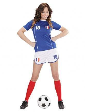 World Cup Soccer Girl France Fancy Dress Costume