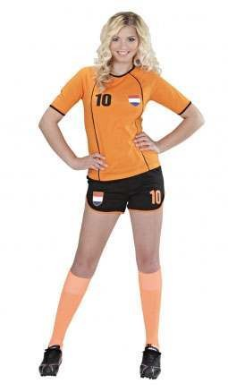 World Cup Soccer Girl Holland Fancy Dress Costume