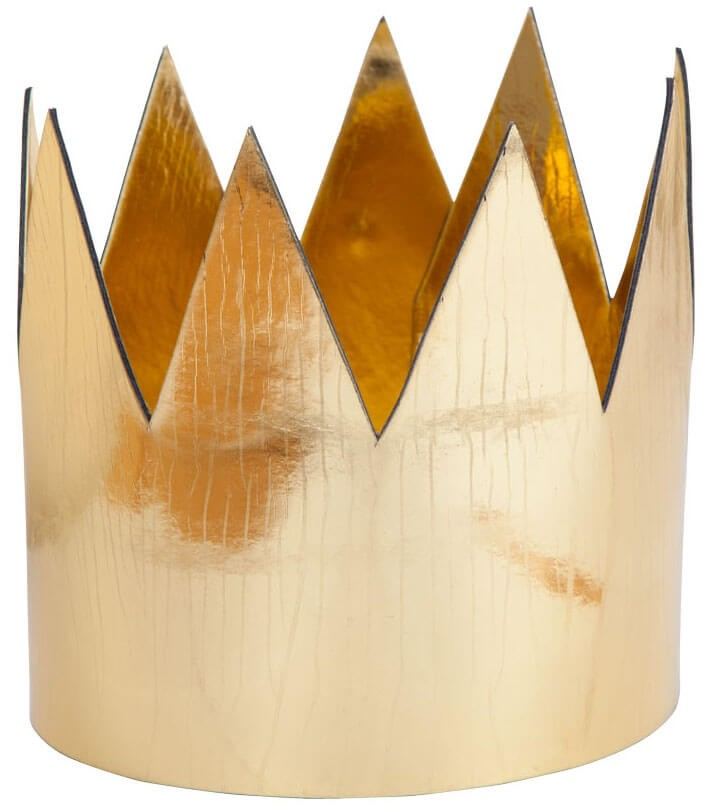 Adults Gold Crown (Royalty/Medieval) Fancy Dress Accessory