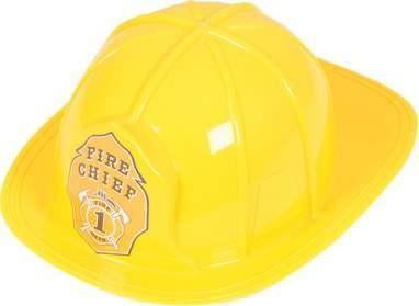 Mens Fireman Helmet Hats - (Yellow)