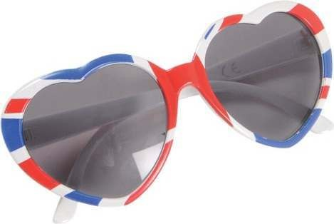 Adult Unisex G.B Glasses - Heart Shape Glasses - (Red, White, Blue)