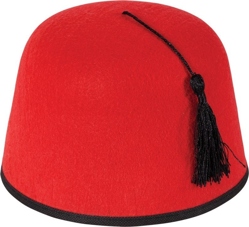 Mens Morraccan Fez Hats - (Red)