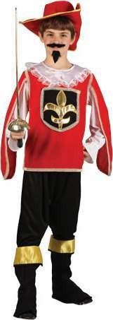 Boys Musketeer Red Musketeer Outfit - (Red)