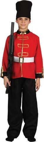 Boy'S Palace Guard Fancy Dress Costume - (Red)
