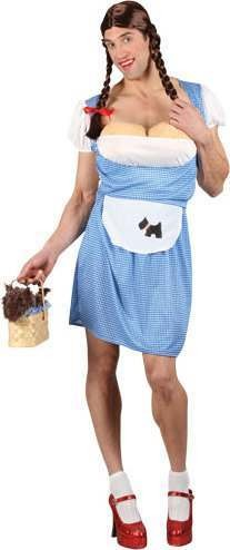 Mens Funny Dorothy Fairy Tales Outfit (Blue, White)
