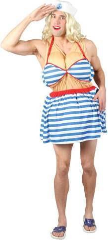 Mens Sailor Hottie Sailor Outfit - One Size (Blue, White)