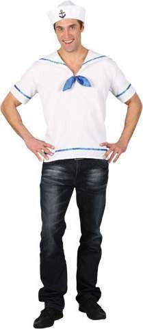 Mens Ez Sailor Sailor Outfit (White)