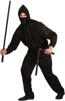 Mens Dark Ninja Ninja Outfit (Black)