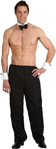 Mens Party Boy Stripper Party Outfit (Black)