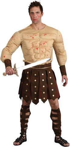 Mens Ancient Gladiator Roman Outfit (Brown)