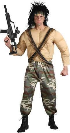 Mens Jungle Warrior Film Outfit (Camo)