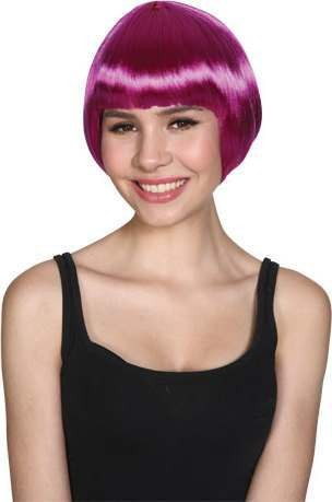 Ladies Short Bob Wig - Purple Wigs - (Purple)