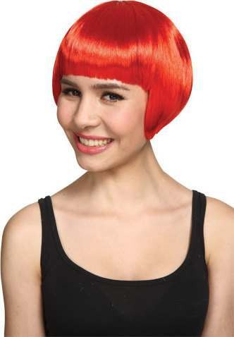 Ladies Short Bob Wig - Red Wigs - (Red)
