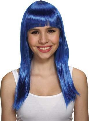 Ladies Glam Wig - Blue Wigs - (Blue)