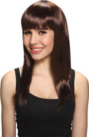 Ladies Glam Wig - Brown Wigs - (Brown)