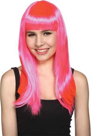 Ladies Glam Wig - Pink Wigs - (Pink)