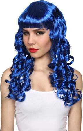 Ladies Seductress Wig- Blue Wigs - (Blue)