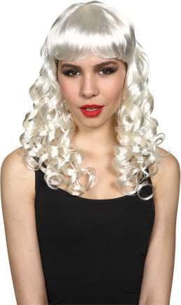 Ladies Seductress Wig- White Wigs - (White)