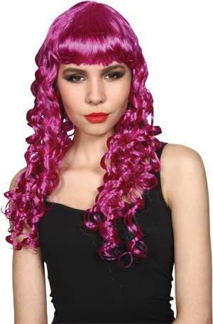 Ladies Seductress Wig- Purple Wigs - (Purple)