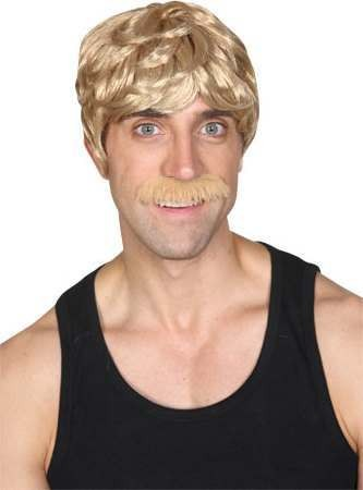 Mens 70'S Cool Dude - Blonde Wigs - (Blond)