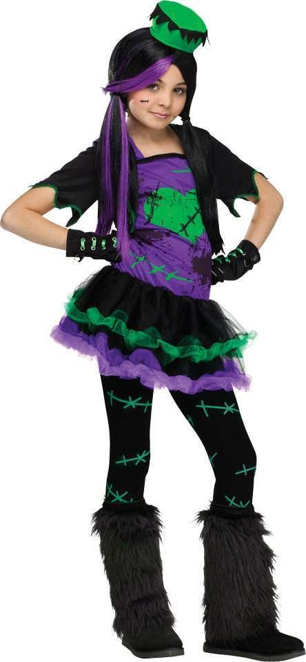 Girls F/World Funkie Frankie- Costume Halloween Outfit -