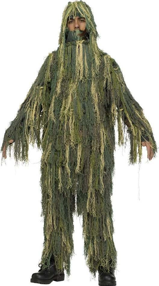Boys F/World Ghillie Costume Army Outfit - (Green)