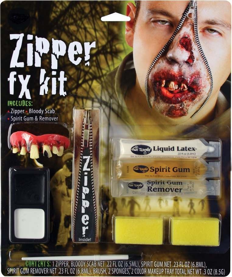 Mens Deluxe Zipper Fx Kit - Zombie Other