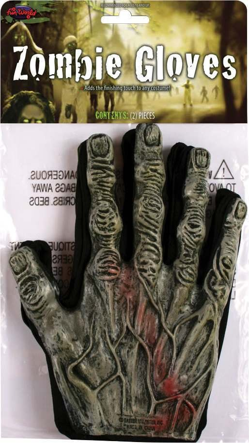 Adult Unisex F/World Zombie Gloves Gloves - (Brown)