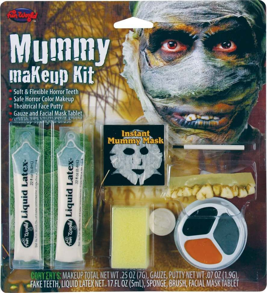 Adult Unisex Mummy Makeup Kit Makeup