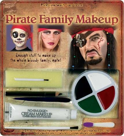 Adult Unisex Pirate Family Makeup Kit Makeup