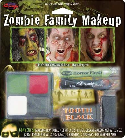 Zombie Family Make Up Kit Fancy Dress