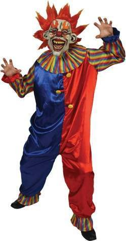 Twisted Clown With Mask  Fancy Dress (Halloween)