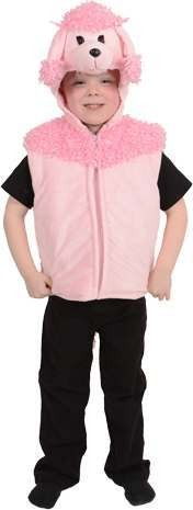 Deluxe Poodle Gillet Animal Outfit - Age 3-7