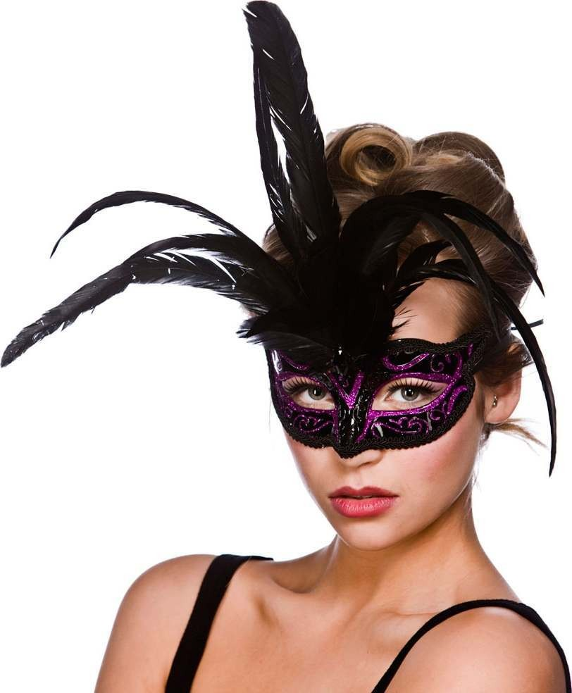 Adult Unisex Milano Eyemask - Black / Purple Eyemasks - (Black, Purple)