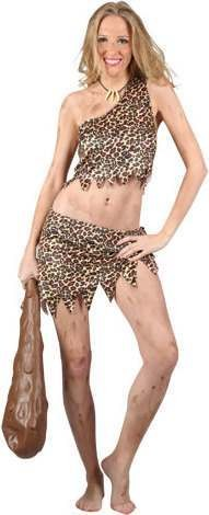 Ladies Sexy Cave Girl Cavemen Outfit - (Animal Print)