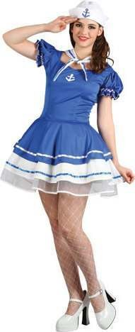 Ladies Ahoy Sailor Sailor Outfit - (Blue)
