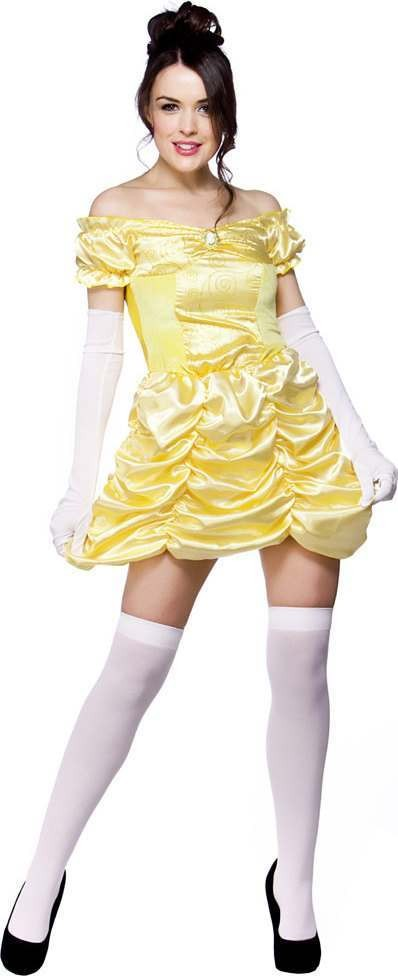 Ladies Beautiful Belle Outfit - (Yellow)