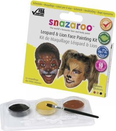 Leopard & Lion Them Pack (Snazaroo)