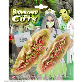 Sfx Biohazard Toxic Cuts Halloween Accessory